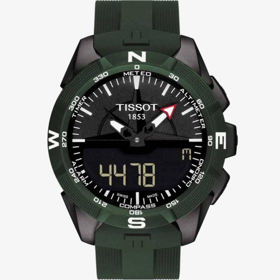 Tissot Mens T-Touch Expert Solar II Green Rubber Strap Watch