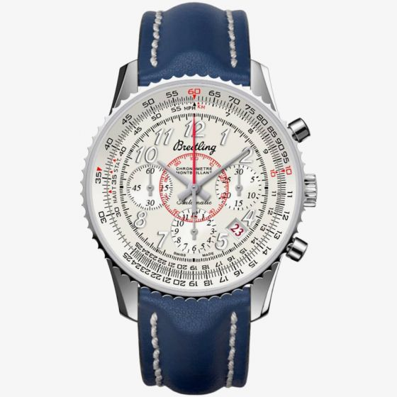 Breitling Mens Montbrilliant Leather Strap Watch
