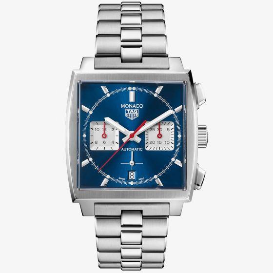 TAG Heuer Mens Monaco Calibre 02 Blue Bracelet Watch