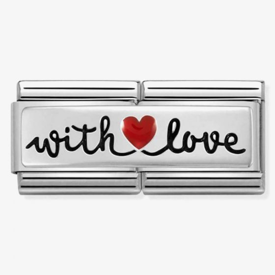 Nomination Composable CLASSIC Symbols Double Link With Heart Love Charm