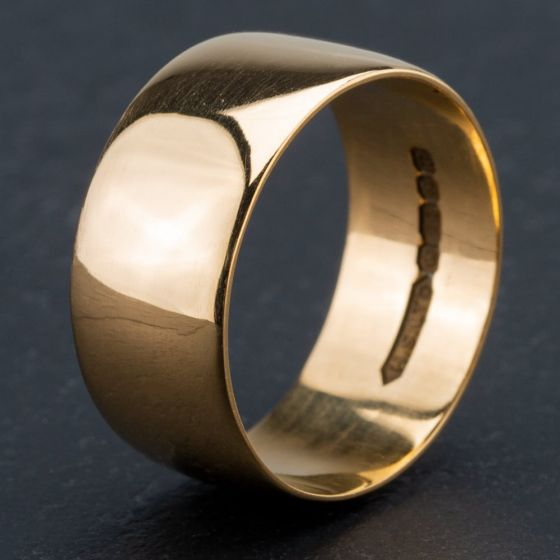 Second Hand 22ct Yellow Gold 9mm Flat Wedding Ring