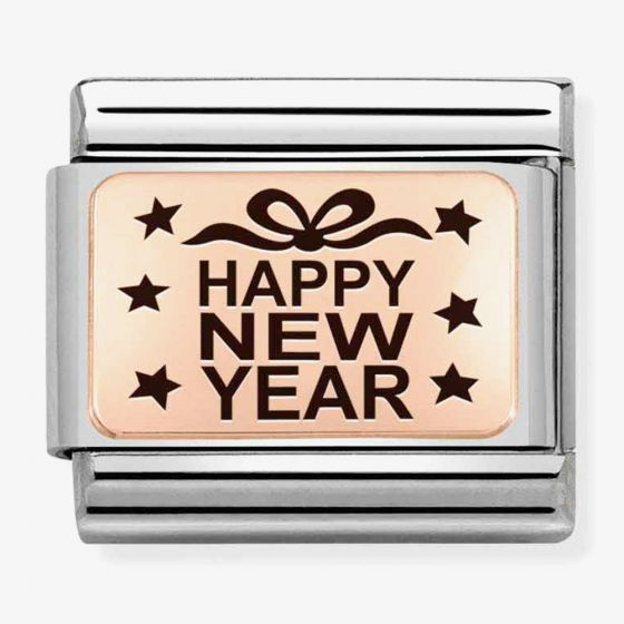 Nomination Composable CLASSIC Plates Happy New Year Stars Charm