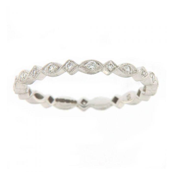 Ungar & Ungar 18ct White Gold Diamond 0.18ct Fancy Eternity Ring