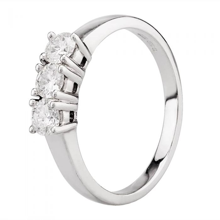 Arctic Circle Diamonds 18ct White Gold 0.50ct Diamond Three Stone Ring
