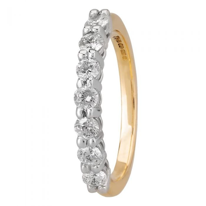 1888 Collection 18ct Gold Certificated Seven Stone Diamond Half Eternity Ring