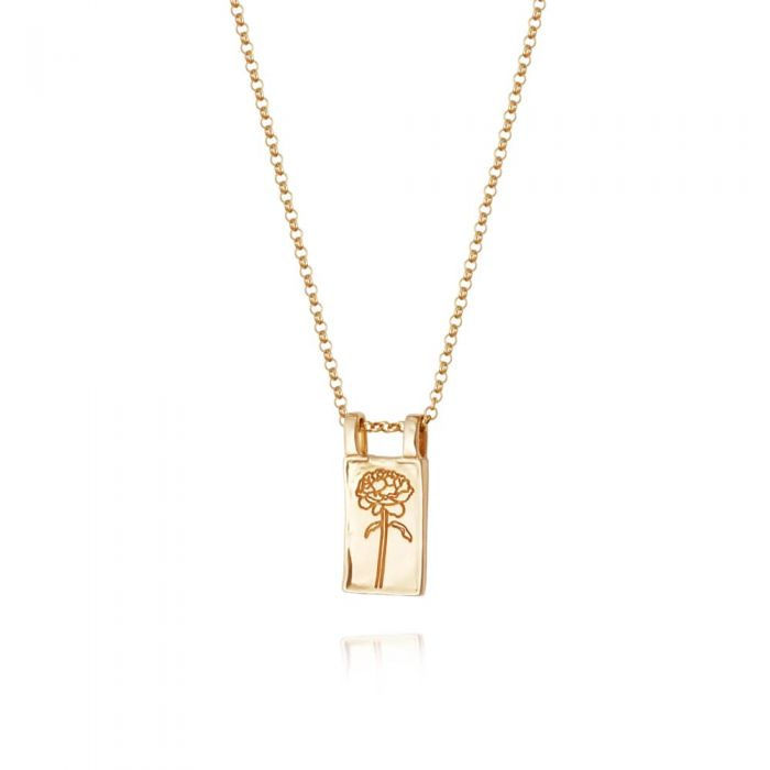 Daisy London Floriography Gold Plated Rose Necklace