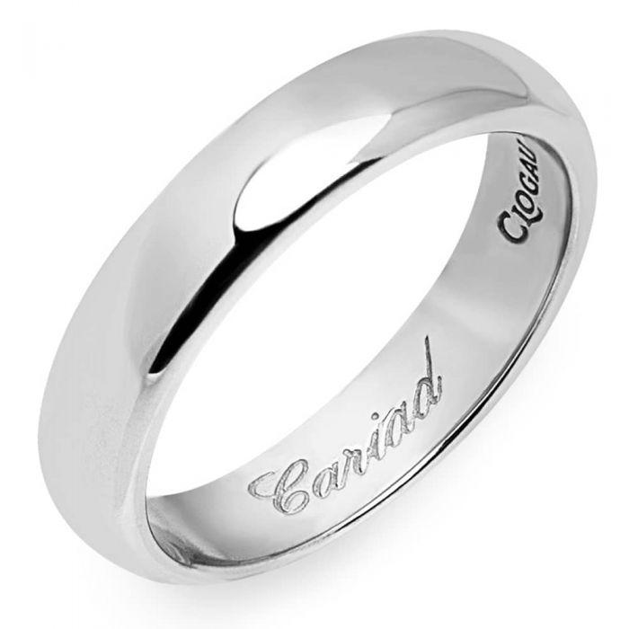 Clogau 9ct White Gold 4mm Cariad Wedding Ring