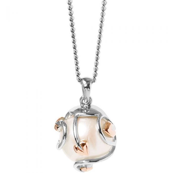 Clogau Tree Of Life Caged Pearl Pendant Necklace
