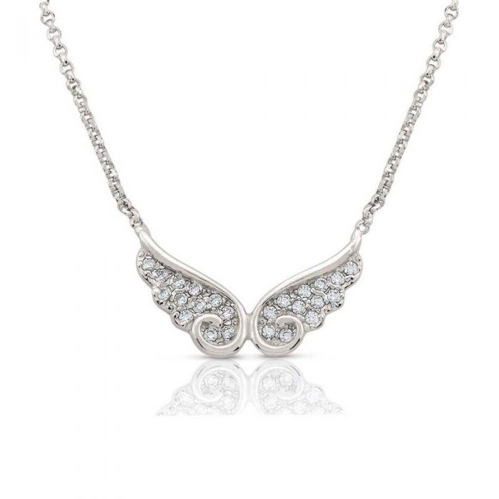 Nomination Angel Silver Sparkling Double Wing Necklace