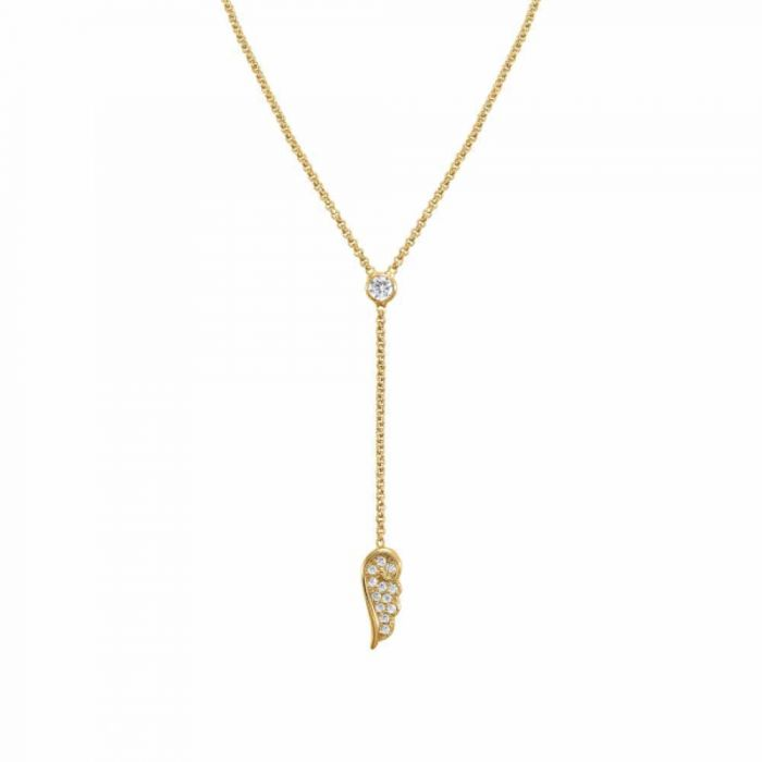 Nomination Angel Gold Plated Sparkling Wing Y-Necklace