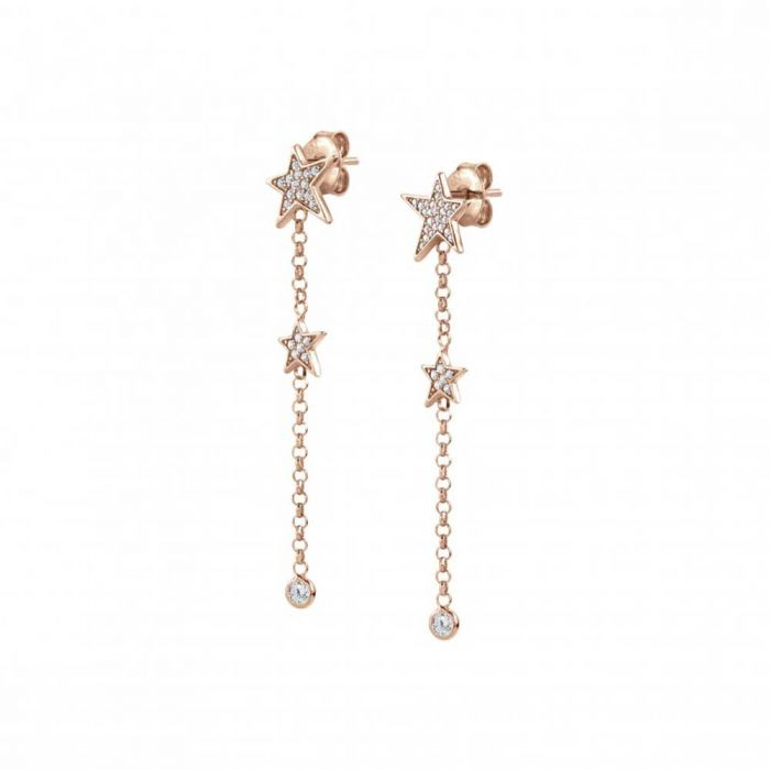 Nomination Stella Rose Gold Plated Star Dropper Earrings