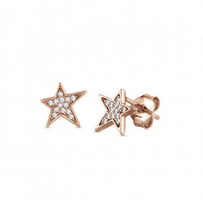 Nomination Stella Rose Gold Plated Star Stud Earrings