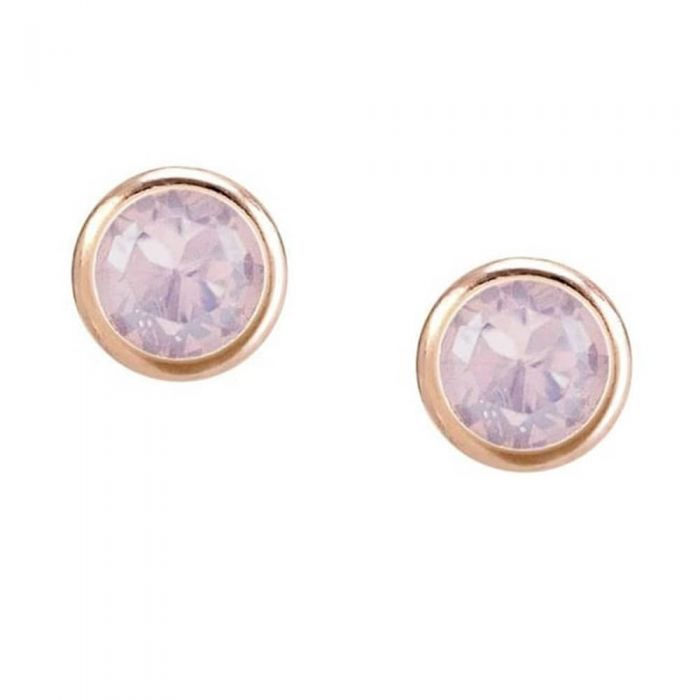 Nomination Bella Rose Gold Plated Pink Crystal Stud Earrings