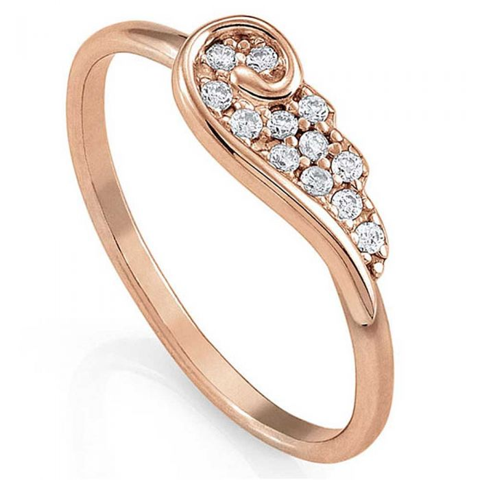 Nomination Angel Rose Gold Plated Sparkling Wing Ring