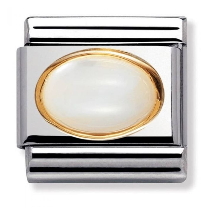 Nomination CLASSIC Gold Oval Stones Moonstone Charm