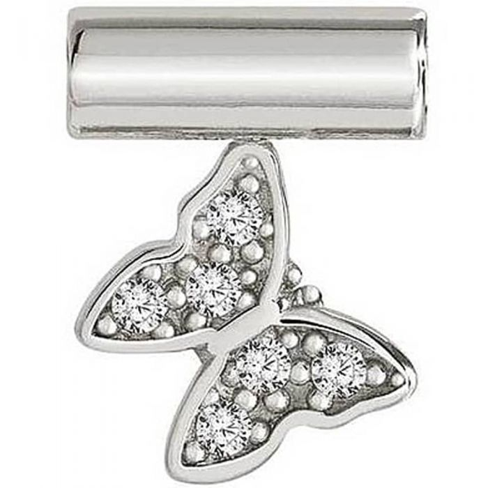 Nomination Seimia Silver Cubic Zirconia Butterfly Charm