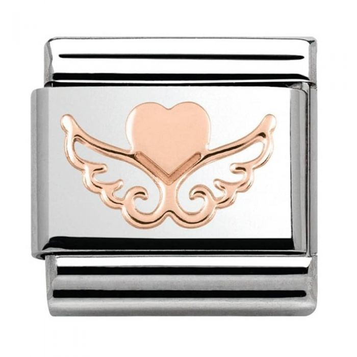 Nomination CLASSIC Rose Gold Symbols Heart With Wings Charm