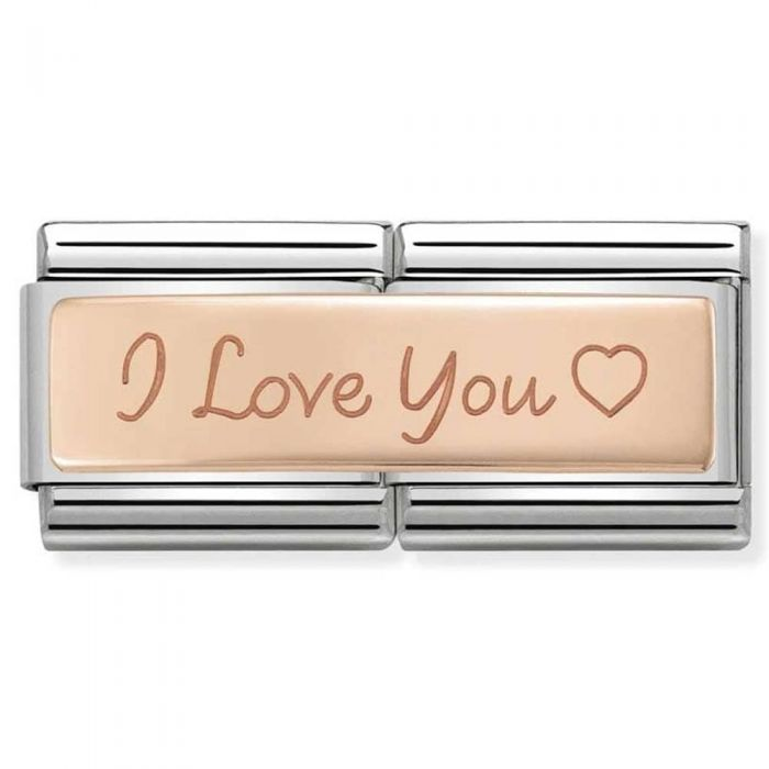 Nomination CLASSIC Rose Gold Double Engraved I Love You Charm