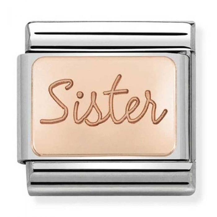 Nomination CLASSIC Rose Gold Plates Sister Charm