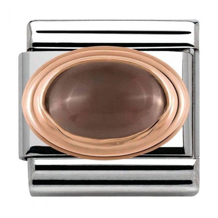 Nomination CLASSIC Rose Gold Smoky Quartz Charm