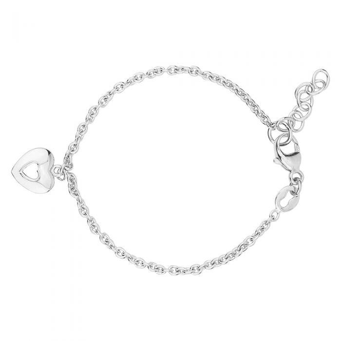 Fleur Kids Sterling Silver Heart Bracelet