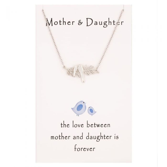 T H Baker Sentiments Mother and Daughter Nesting Bird Necklace
