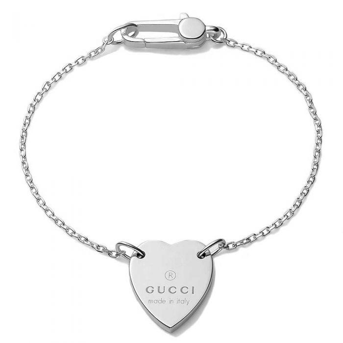 Gucci Trademark Heart Silver Bracelet