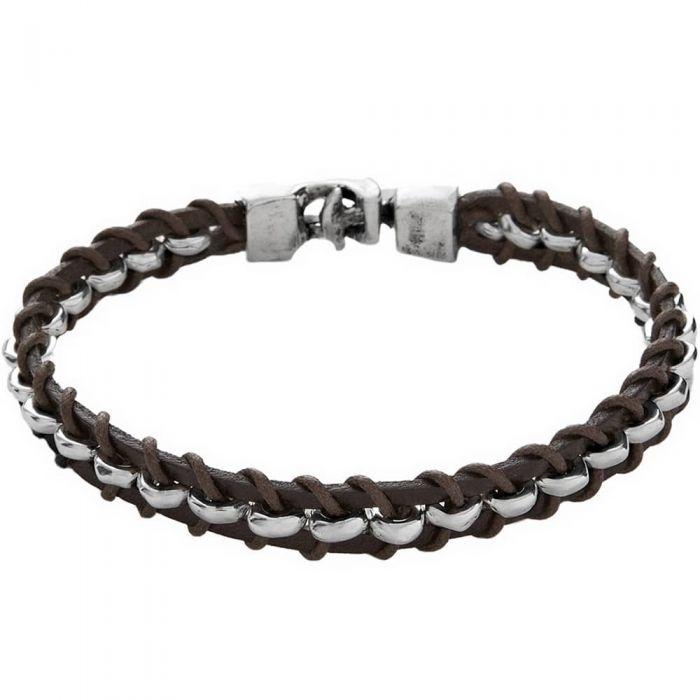 UNOde50 'Authentic' Dark Brown Leather Bracelet