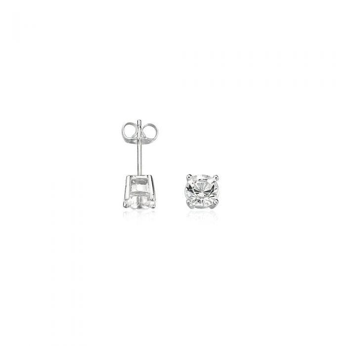 Fred Bennett Mens Silver Crystal Stud Earrings