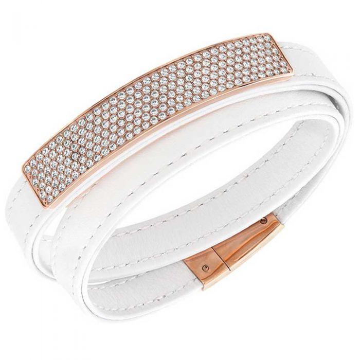 Swarovski Vio Cielo Rose Gold Tone White Bracelet