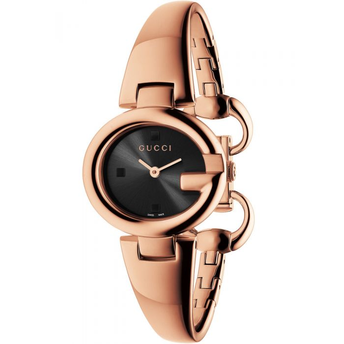 Gucci Ladies Guccissima Rose Gold Plated Bangle Watch