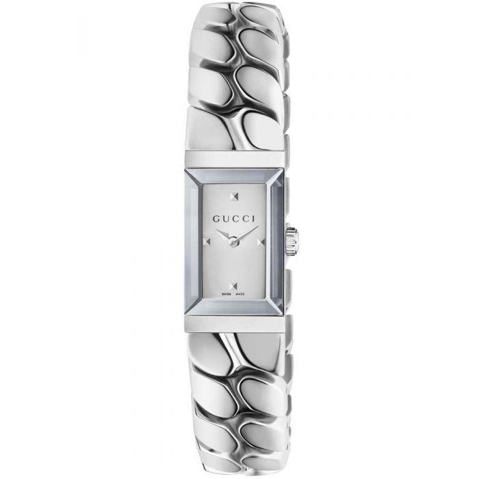 Gucci Ladies G-Frame Rectangular Small Chain Link Bracelet Watch