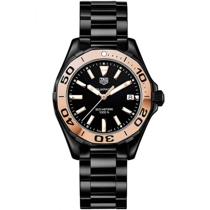 TAG Heuer Ladies Aquaracer Quartz Two Tone Ceramic Bracelet Watch