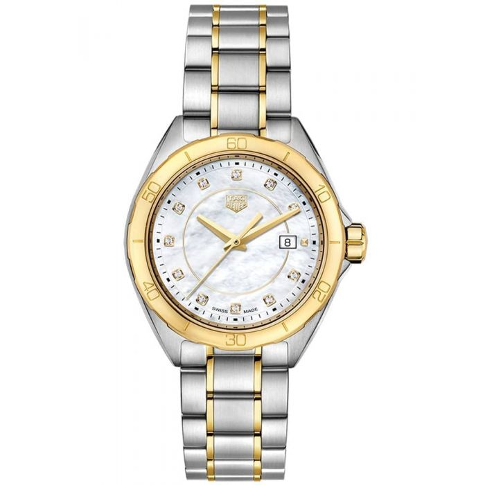TAG Heuer Ladies Formula 1 Mother of Pearl Diamond Dial Two Tone Bracelet Watch