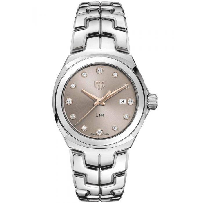 TAG Heuer Ladies Link Taupe Diamond Dial Bracelet Watch