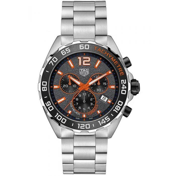 TAG Heuer Mens Formula 1 Orange 43mm Bracelet Watch