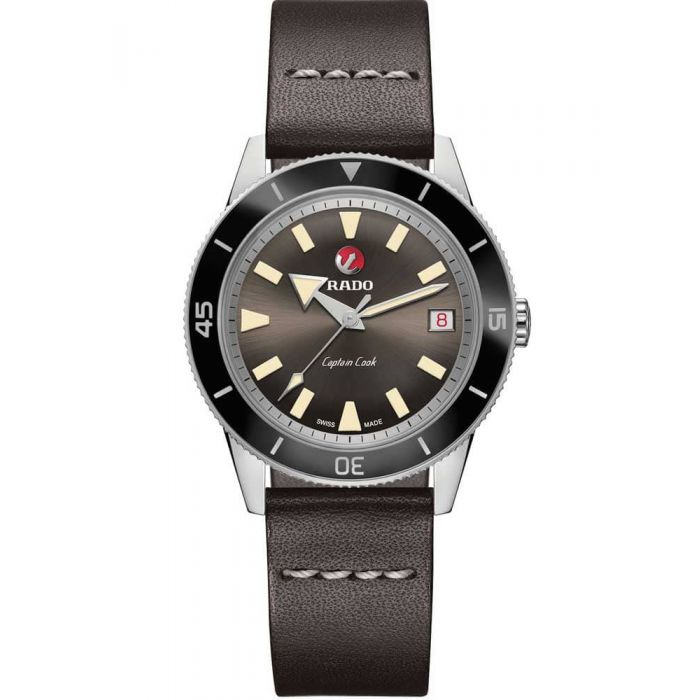 Rado Mens HyperChrome Captain Cook Automatic Limited Edition Leather Strap Watch