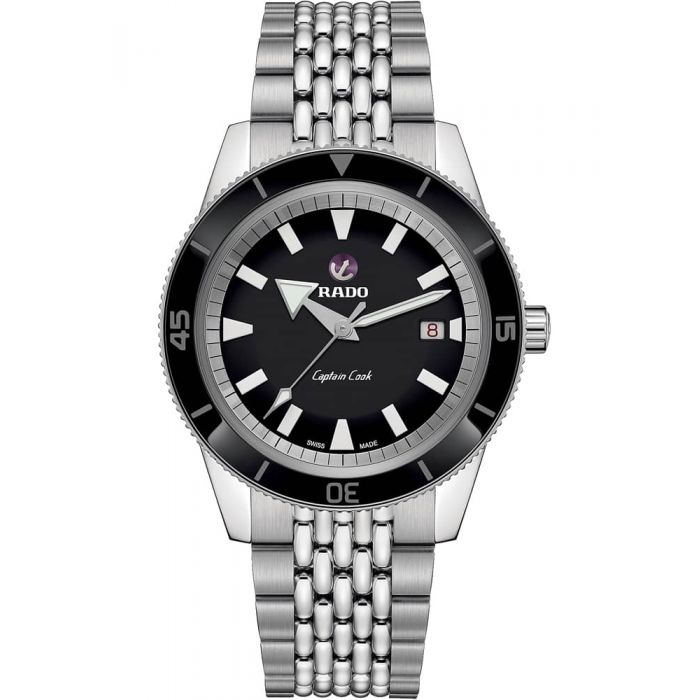 Rado Mens HyperChrome Captain Cook Automatic Bracelet Watch