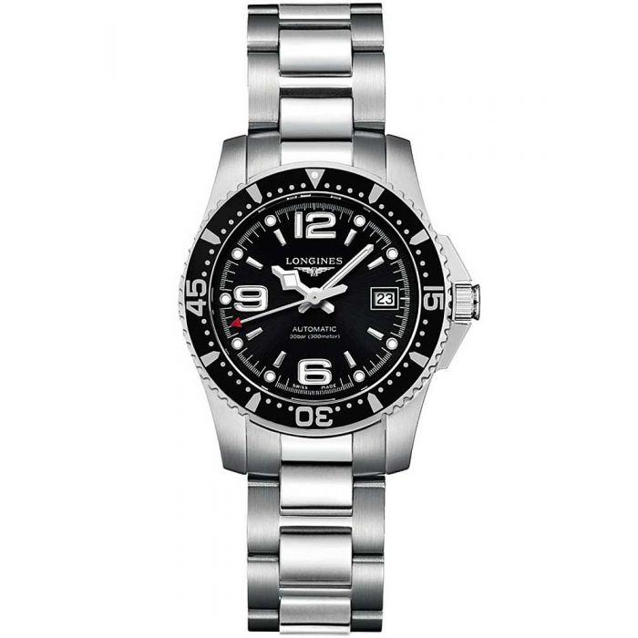 Longines Ladies HydroConquest Automatic Black Dial Bracelet Watch
