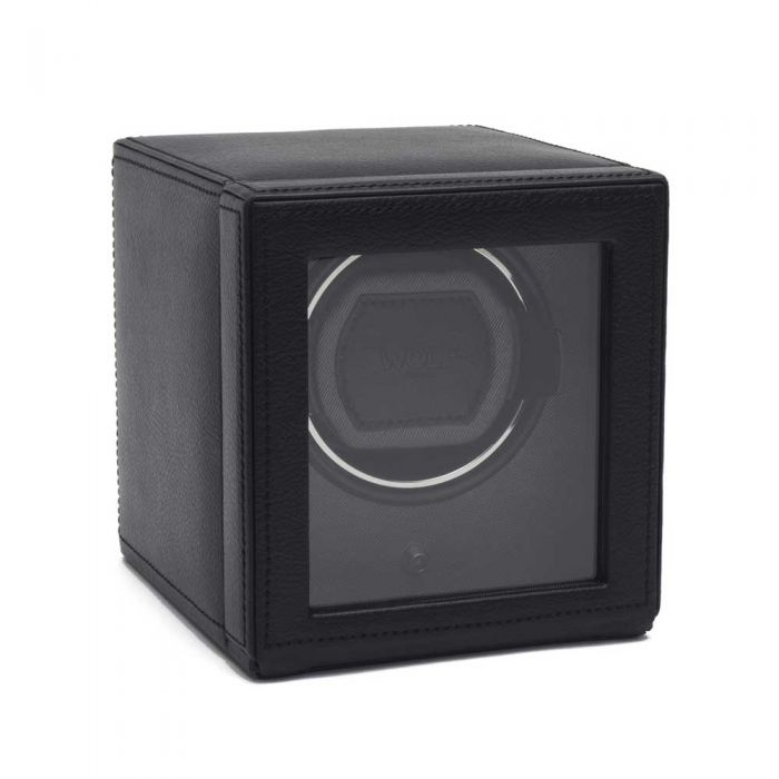 Wolf Cub With Cover Black Watch Winder