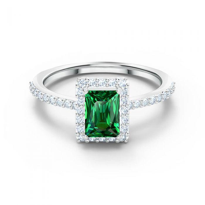 Swarovski Angelic Rectangular Green Crystal Ring
