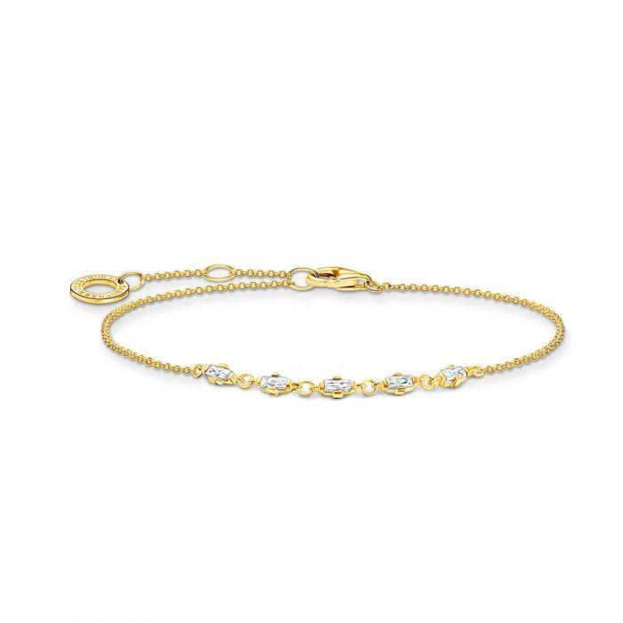 THOMAS SABO 18ct Yellow Gold Plated White Cubic Zirconia Bracelet