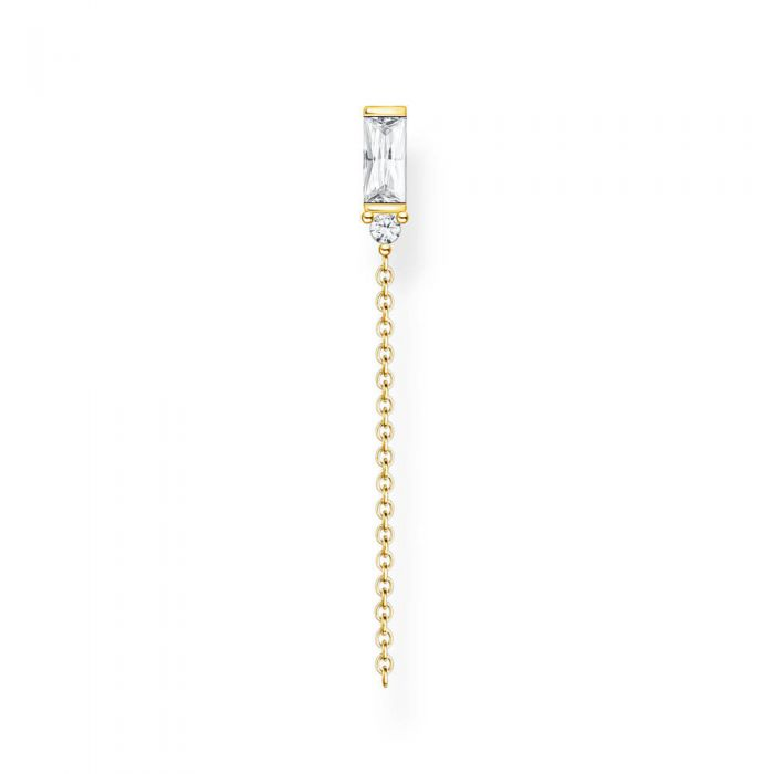 THOMAS SABO 18ct Yellow Gold Plated Cubic Zirconia Single Drop Earring