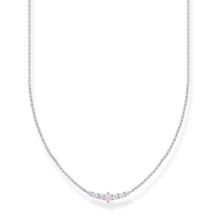 THOMAS SABO Vintage Sterling Silver Pink Opal Colour Effect Necklace