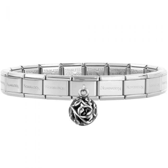 Nomination CLASSIC Composable Silver Agate Leaves Pendant Bracelet