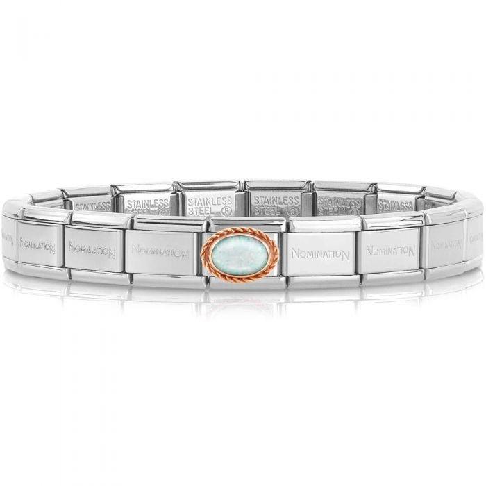 Nomination CLASSIC Composable Rose Gold White Opal Bracelet