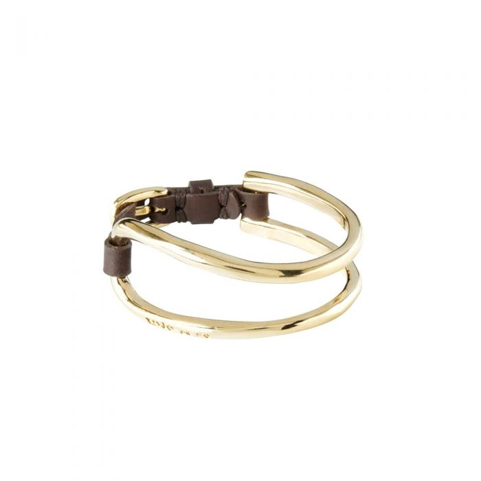UNOde50 Leather Buckle Two-Row Bracelet