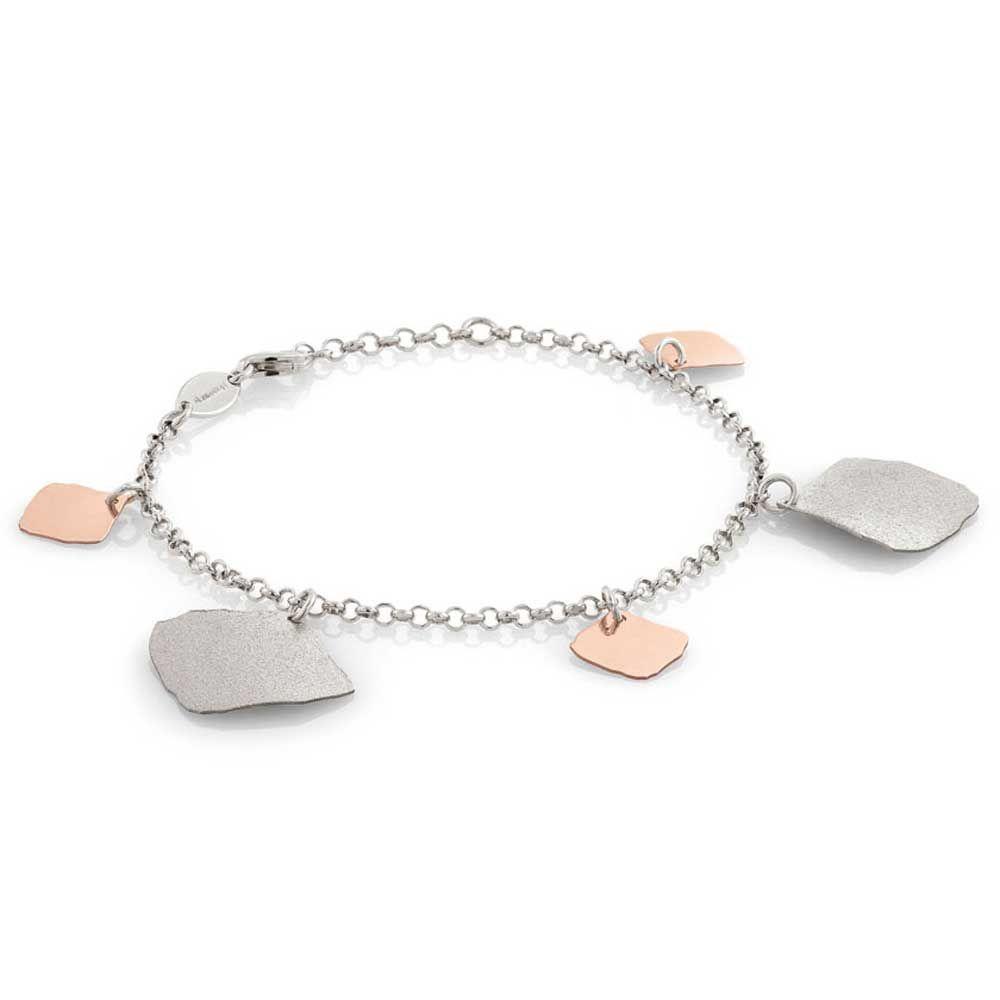 Nomination Ninfea Rose Gold Plated 4 Leaf Dropper Bracelet