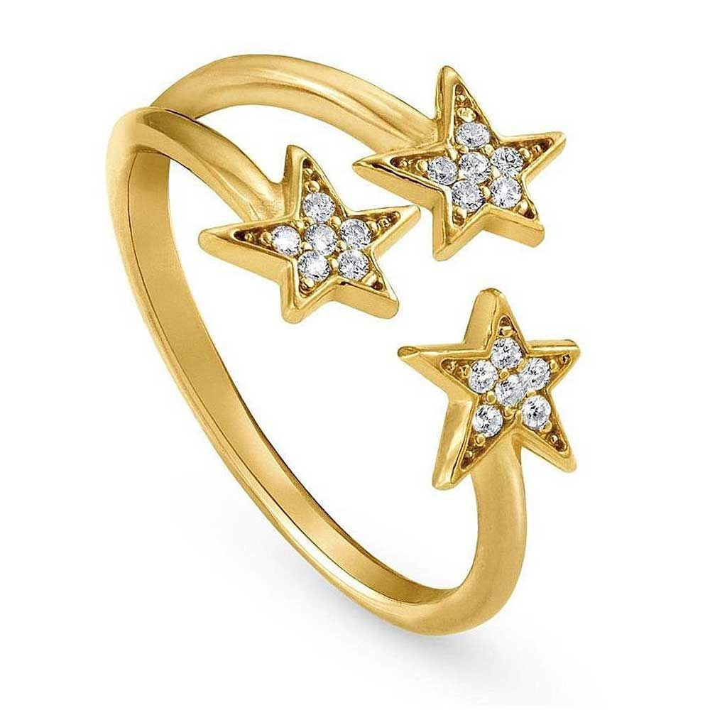 Nomination Stella Gold Plated Triple Star Ring