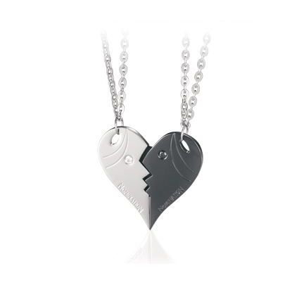 Nomination Me And You Steel Cubic Zirconia Heart Double Pendant